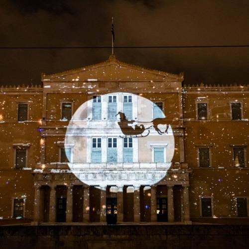 Ζήστε ξανά την εμπειρία του Χριστουγεννιάτικου  3D projection mapping από τον Δήμο Αθηναίων