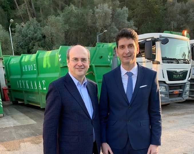 Συνάντηση δημάρχου Λευκάδας με τον υπουργό Περιβάλλοντος Κώστη Χατζηδάκη
