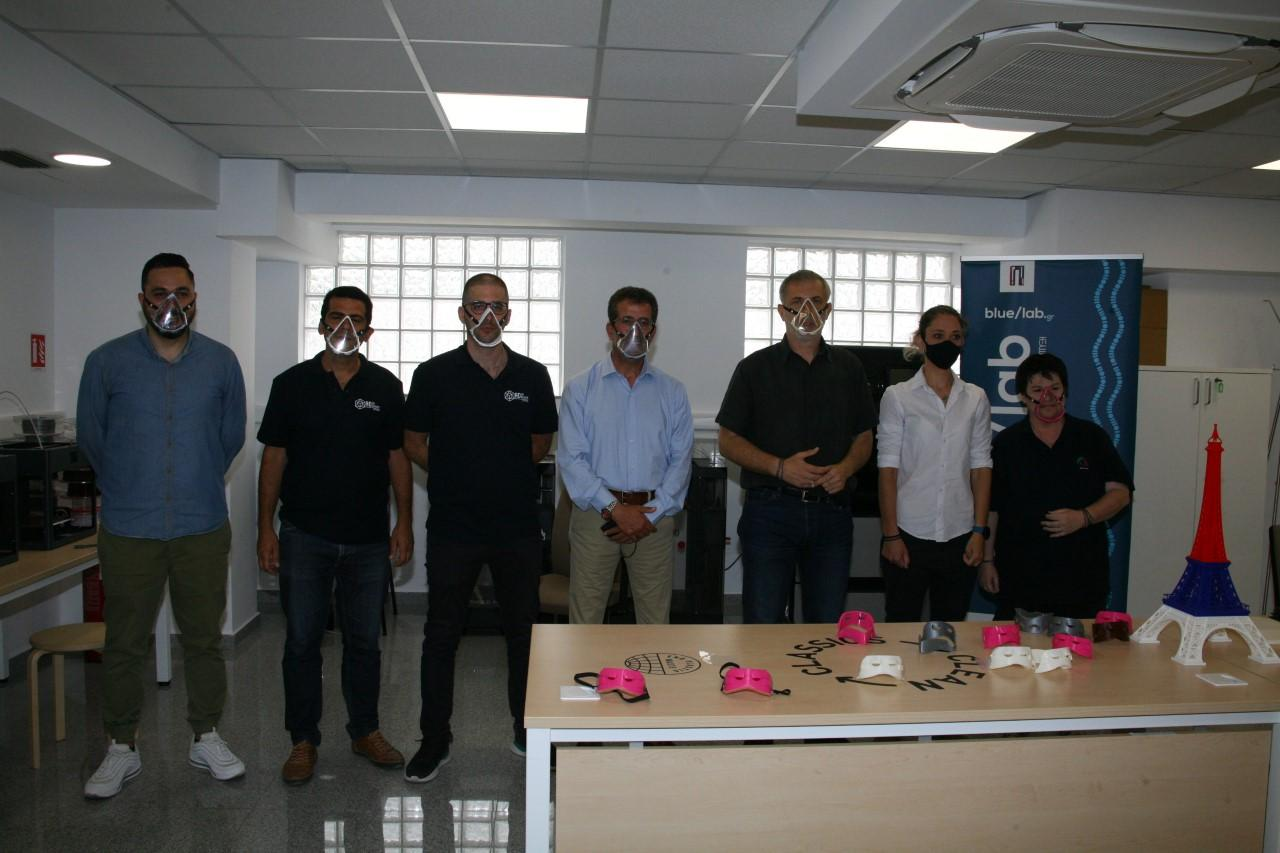 «Blue Lab»: Κατασκεύασε και παρέδωσε 100 ειδικές μάσκες προστασίας για κωφούς