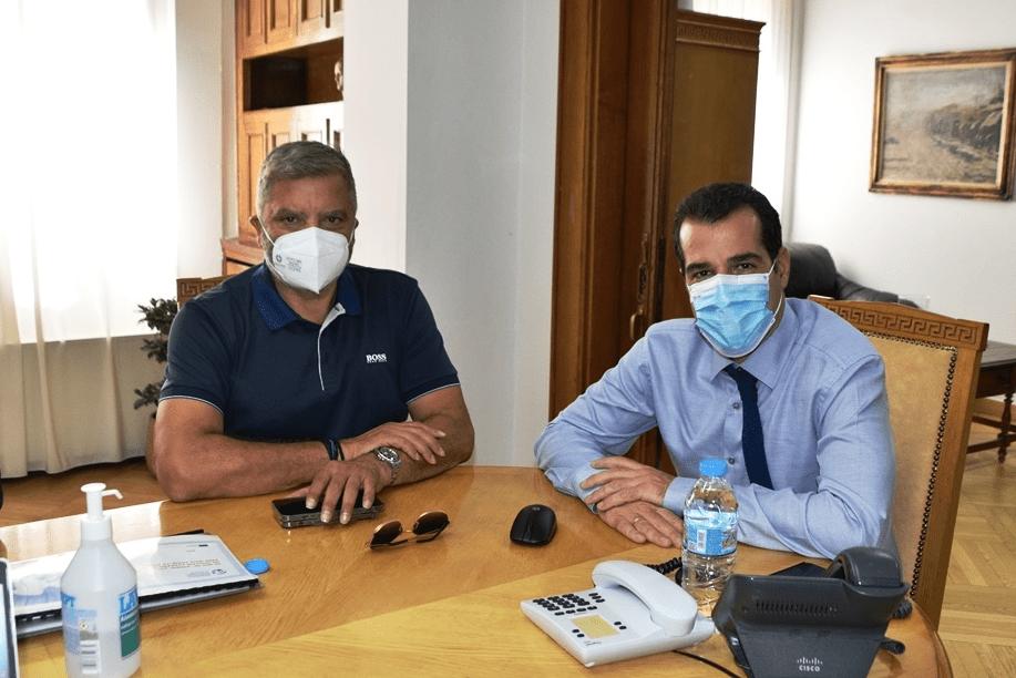 Συνάντηση Πατούλη – Πλεύρη: Κεντρικός ο ρόλος της Αυτοδιοίκησης στην ενίσχυση της πρόληψης υγείας